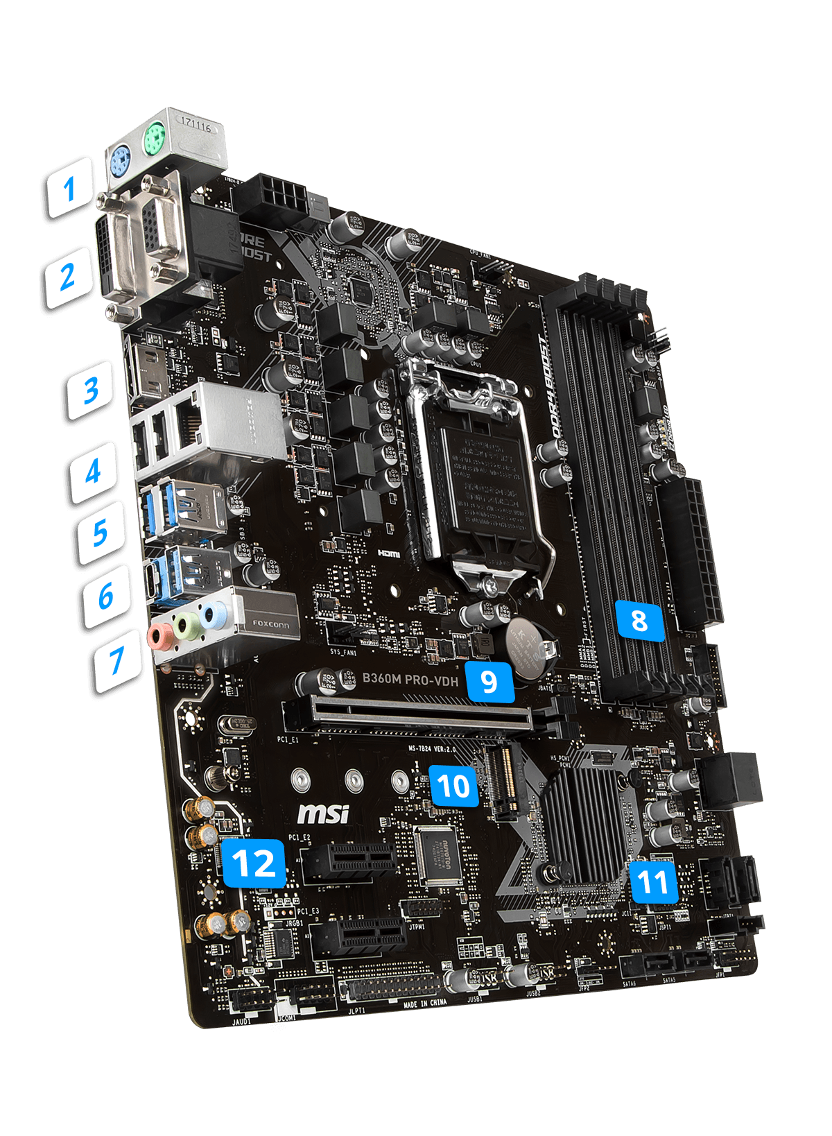 B360M PRO-VDH | Motherboard - The world leader in