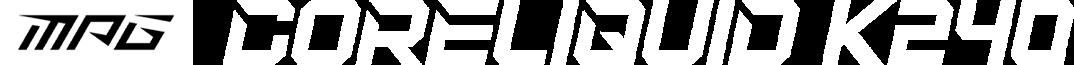 msi coreliquid K240 title logo