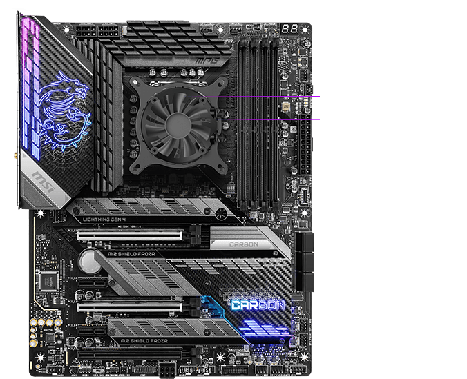 msi motherboard with liquid cooling