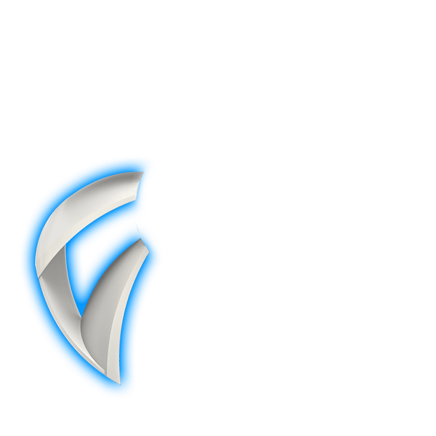 fan with blue lighting