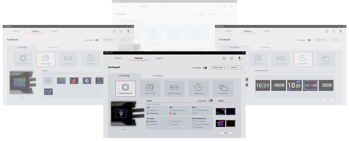 MSI Mpg CoreLiquid Control Screen