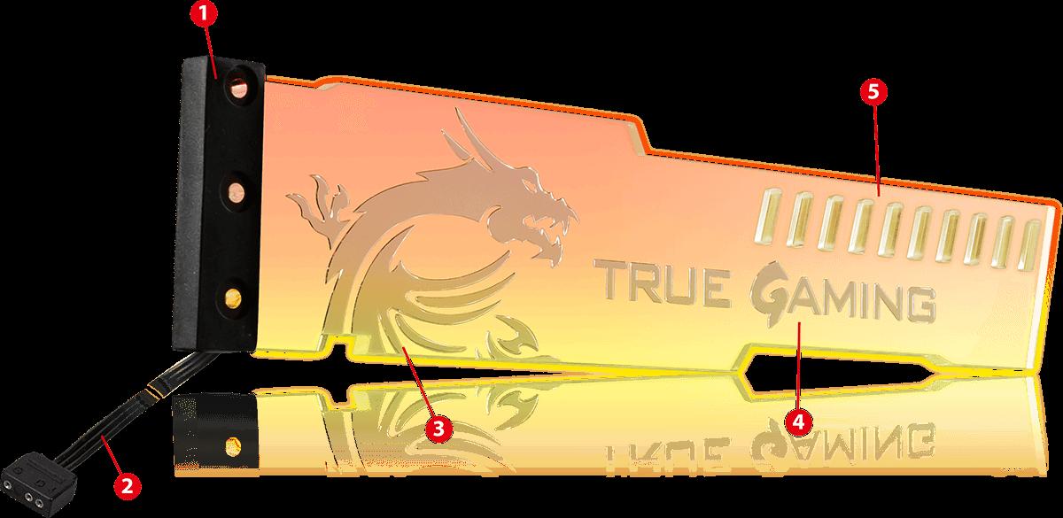 Freeship/&Tracking MSI ATLAS MYSTIC ARGB VGA GRAPHICS CARD HOLDER
