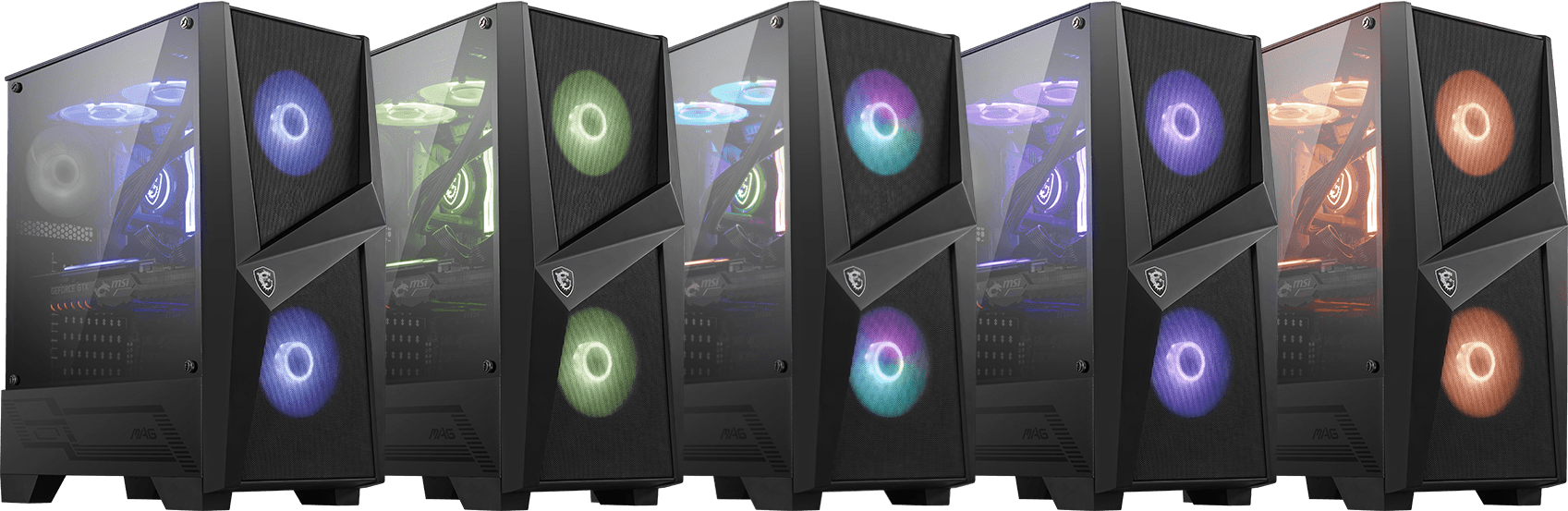 100r_Color MSI MAG FORGE 100R Mid Tower Case - GameDude Computers