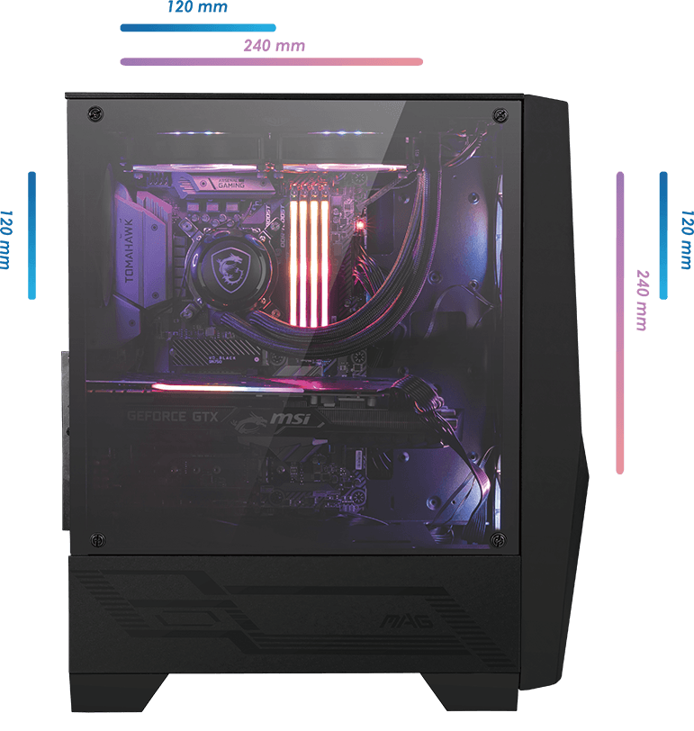 CASE MSI MAG FORGE 100R
