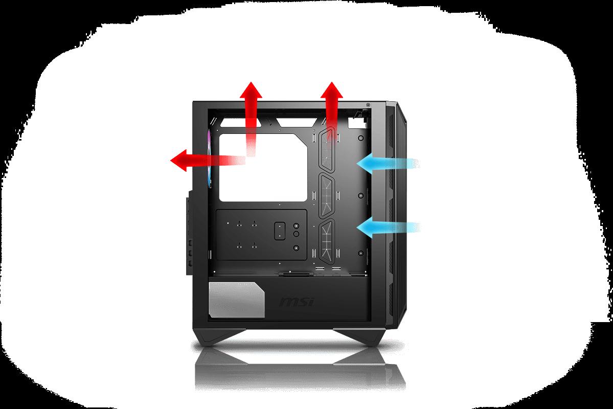 Msi Pc Case Optimized Airflow Design