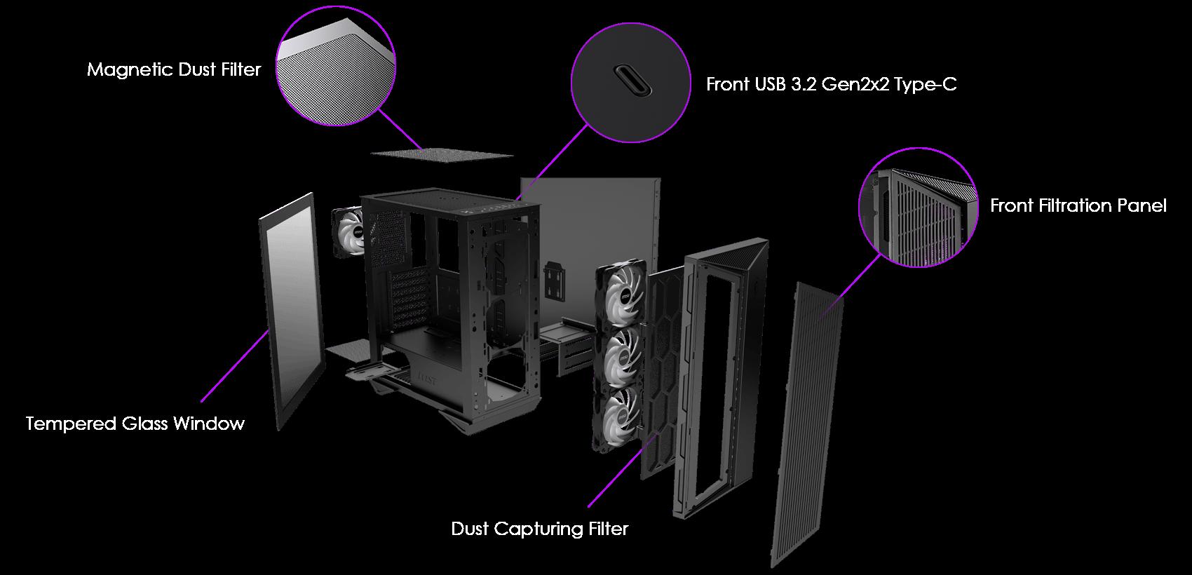 msi pc case hardware capabilities