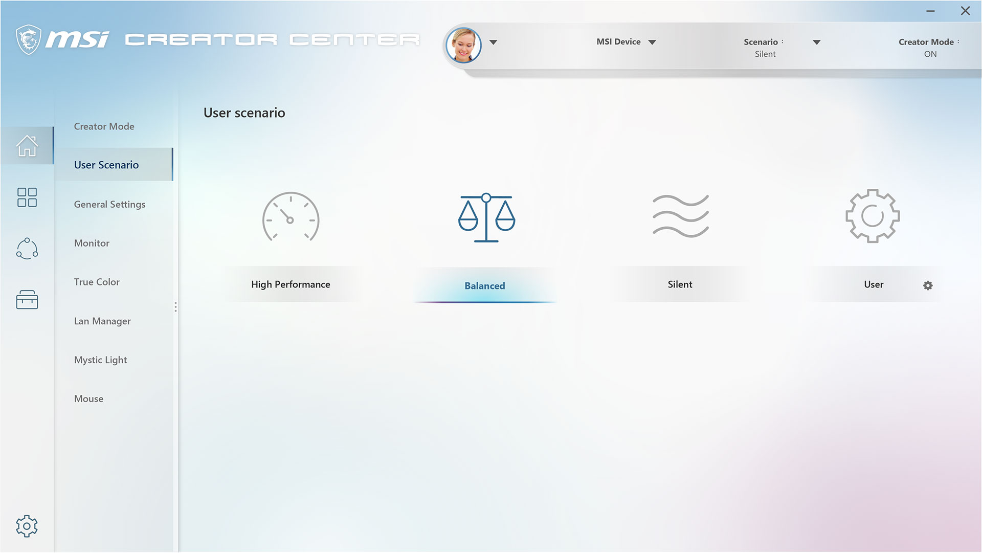 creator center- User scenario