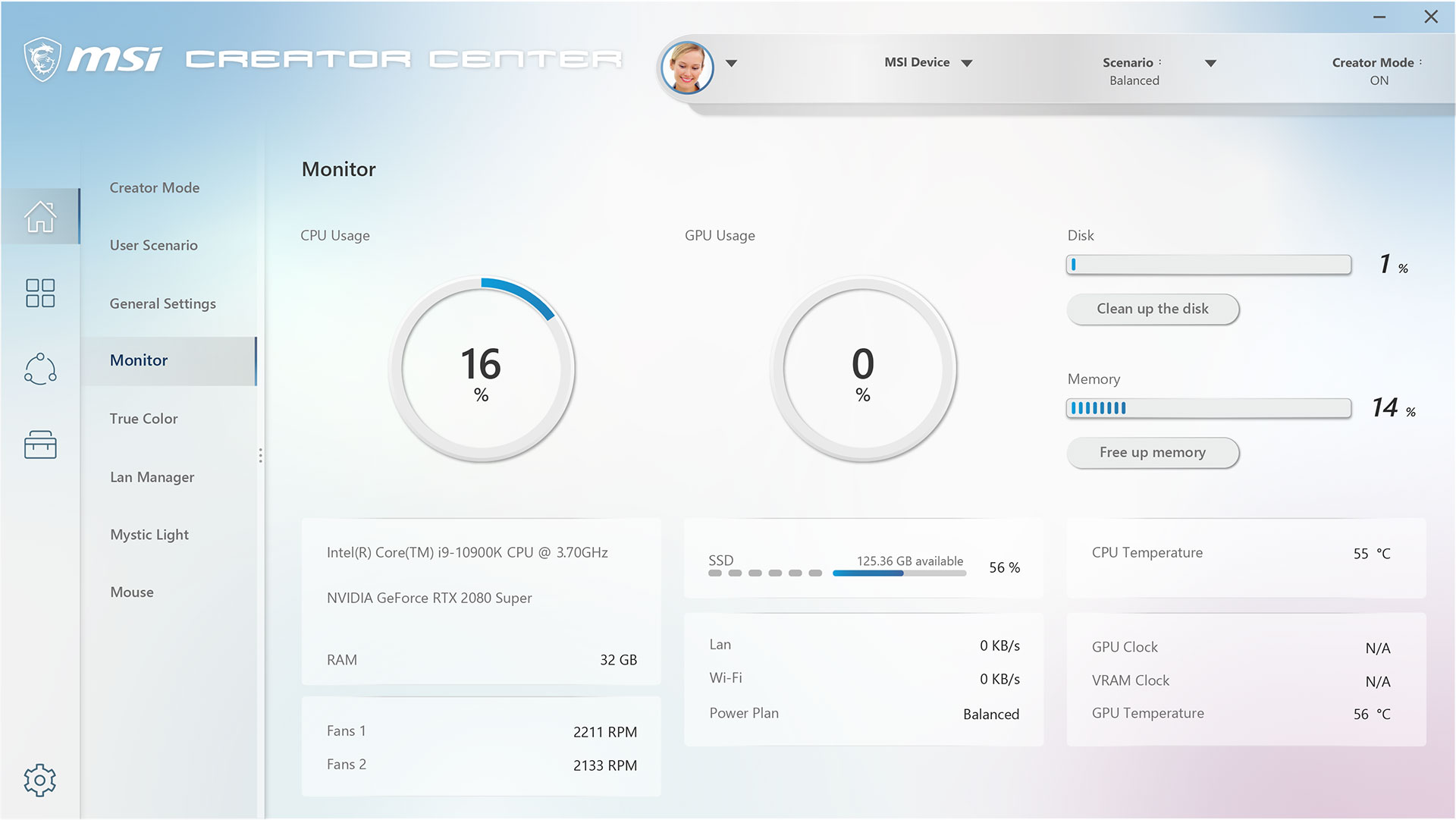 creator center- monitoring