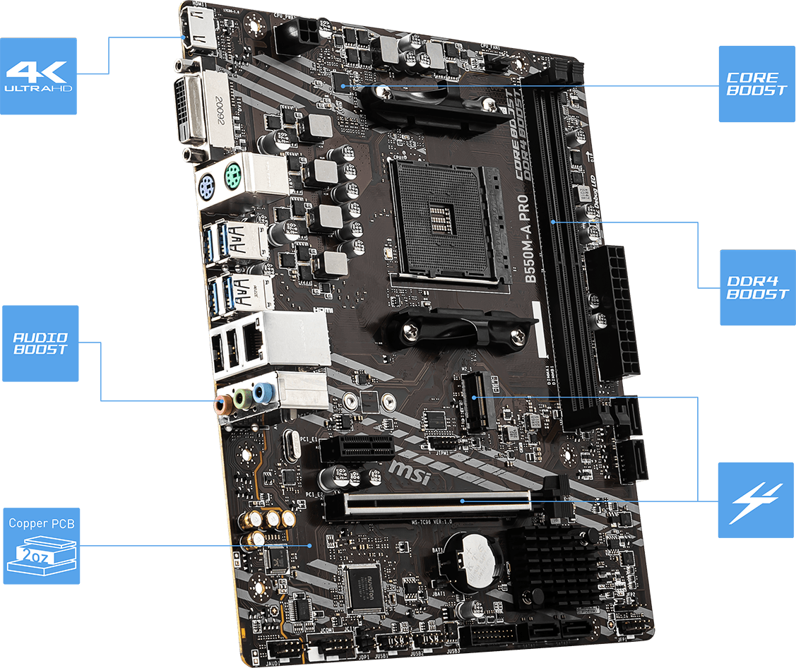 b550m-a pro motherboard