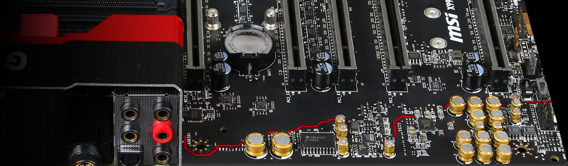 X99a Godlike Gaming Motherboard The World Leader In Stereo Plug Wiring Diagram Addition Headphone Jack 635mm Golden Dedicated Out With A Audio Connector