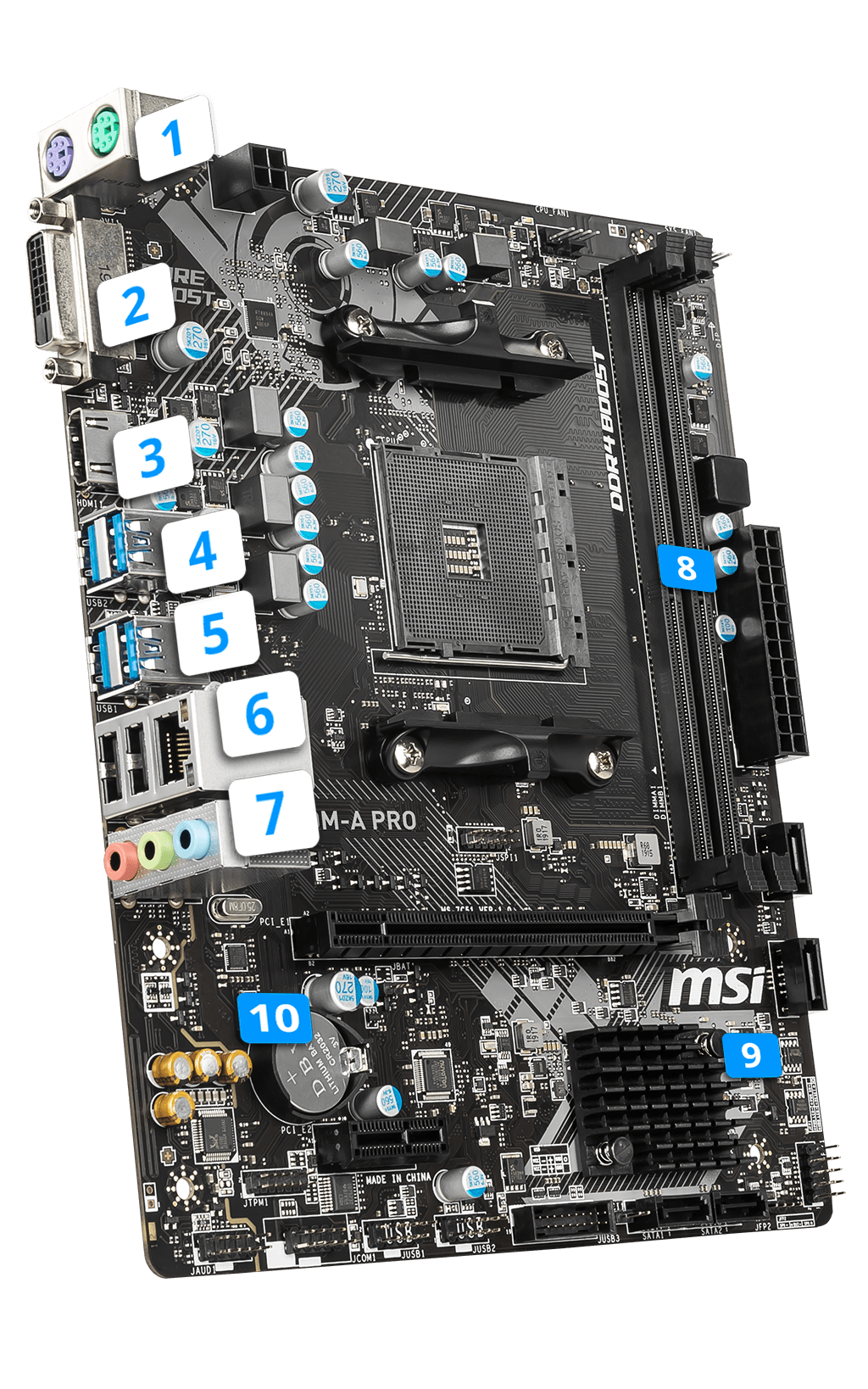 MSI A320M-A PRO overview