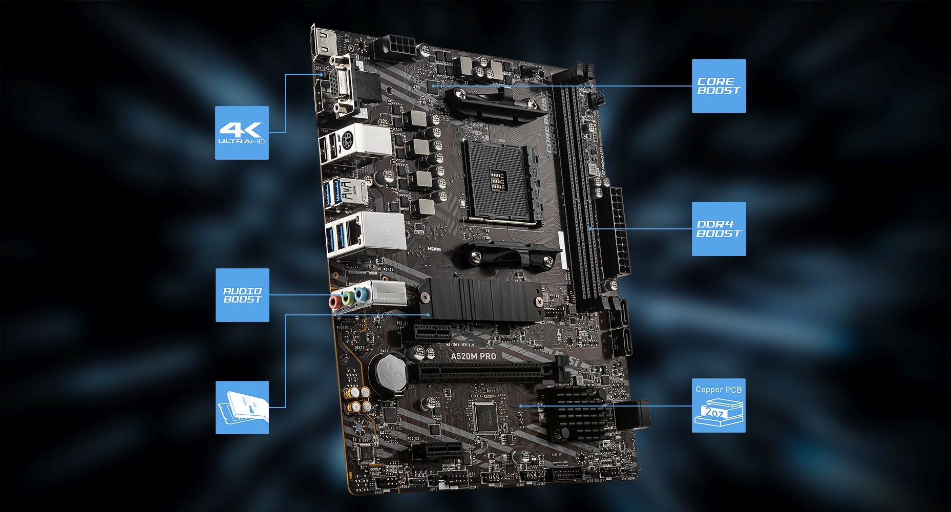 MSI A520M PRO overview