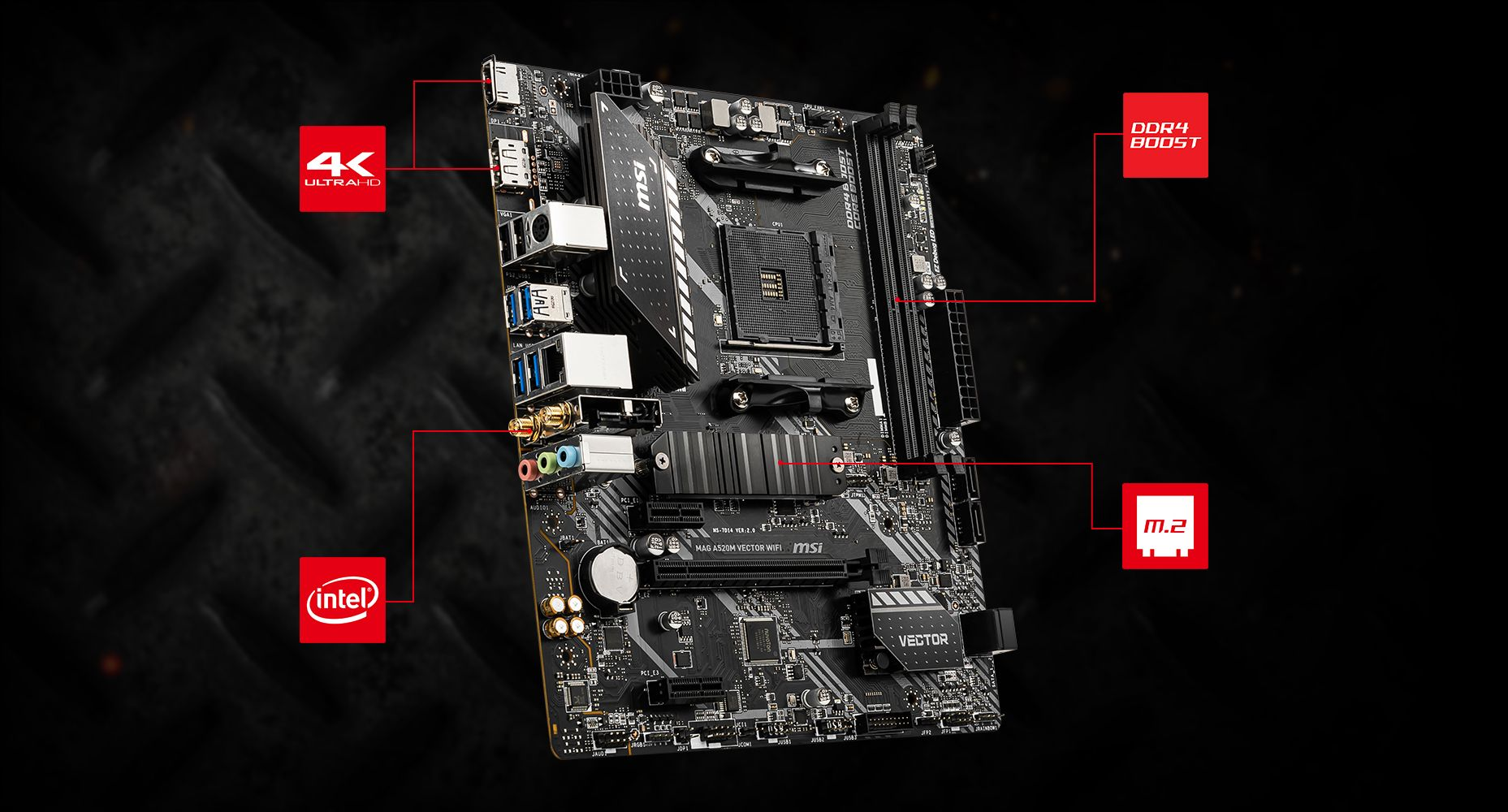 MSI MAG A520M VECTOR WIFI LIGHTNING overview