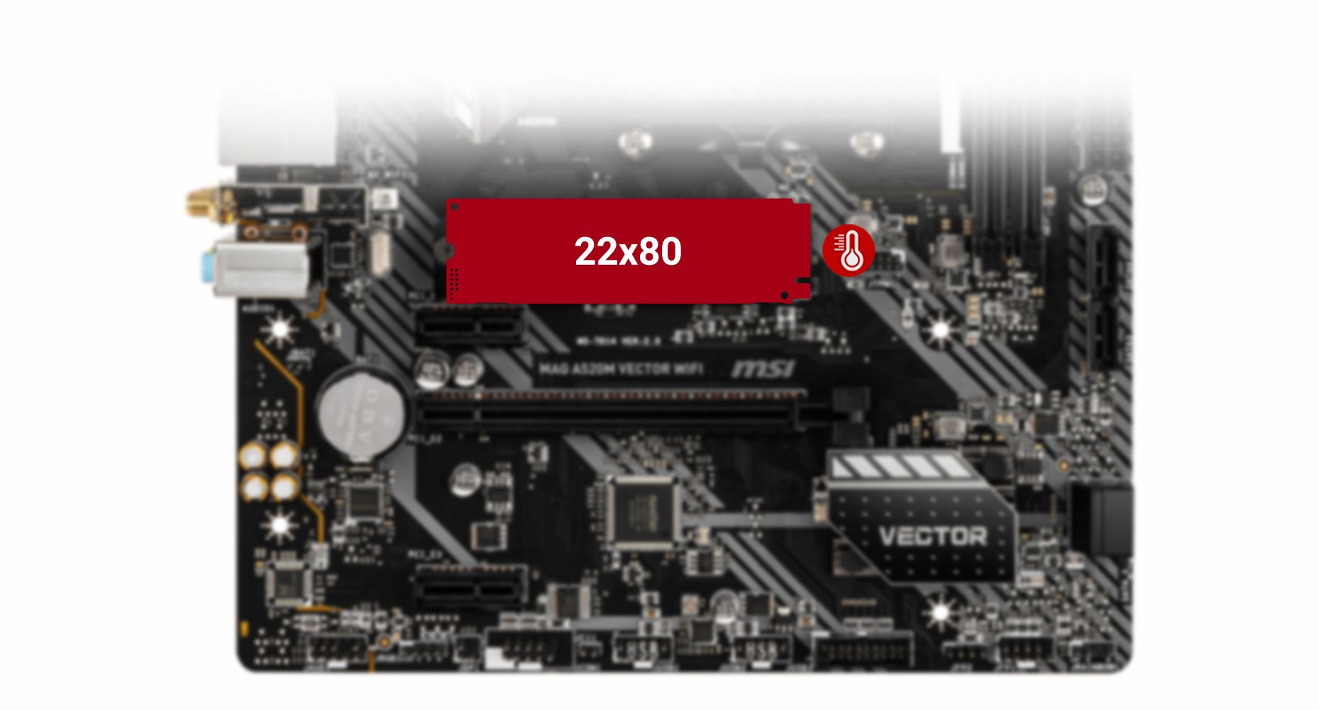 MSI MAG A520M VECTOR WIFI TURBO M.2 WITH M.2 SHIELD FROZR