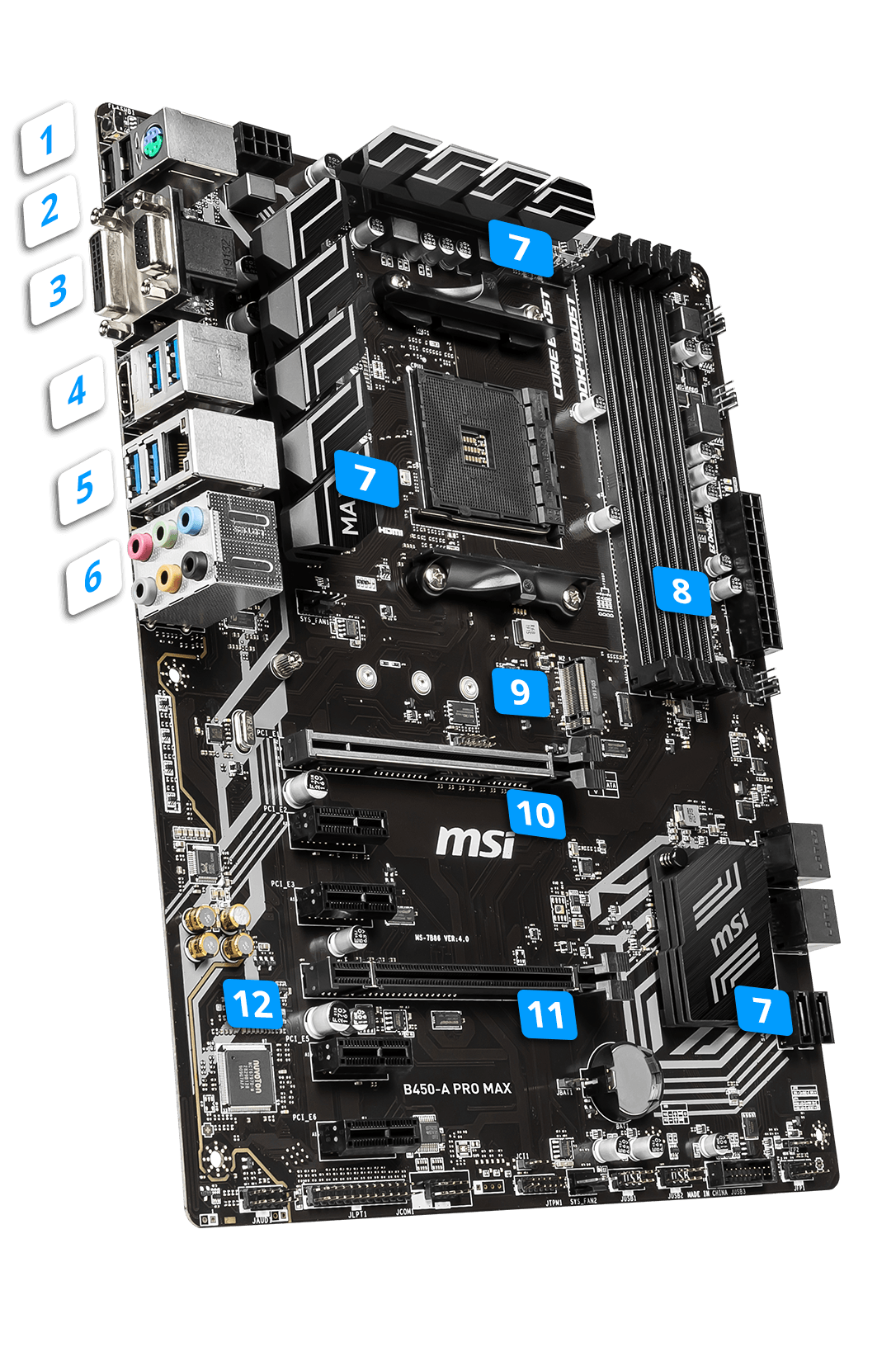 MSI B450-A PRO MAX overview