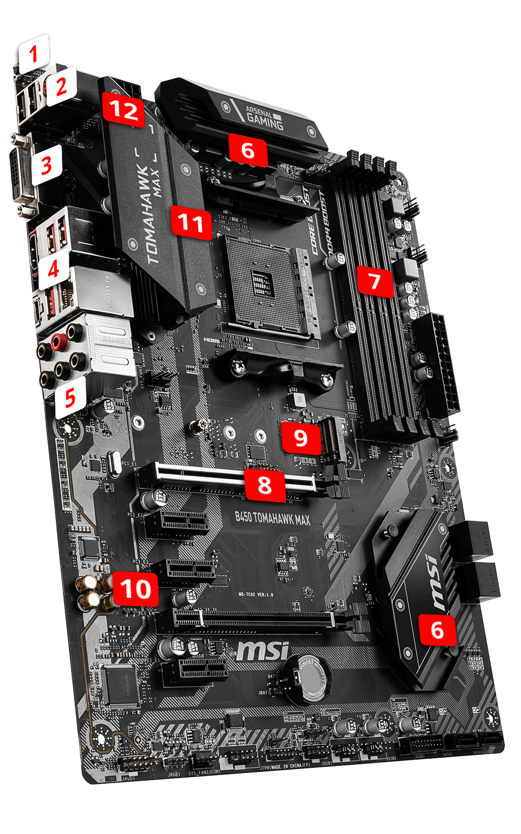 MSI B450 TOMAHAWK MAX overview