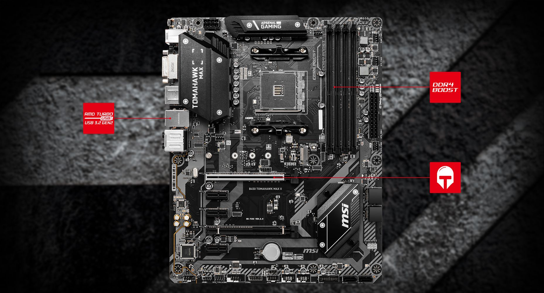MSI B450 TOMAHAWK MAX II THERMAL overview