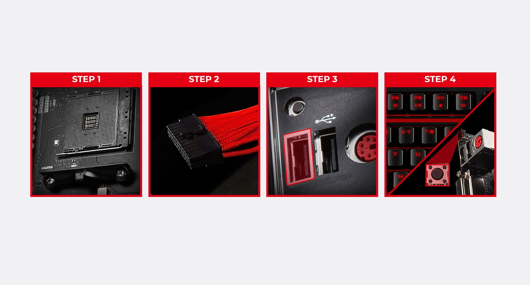 MSI B450 TOMAHAWK MAX II EASY BIOS RECOVERY WITH FLASH BIOS BUTTON