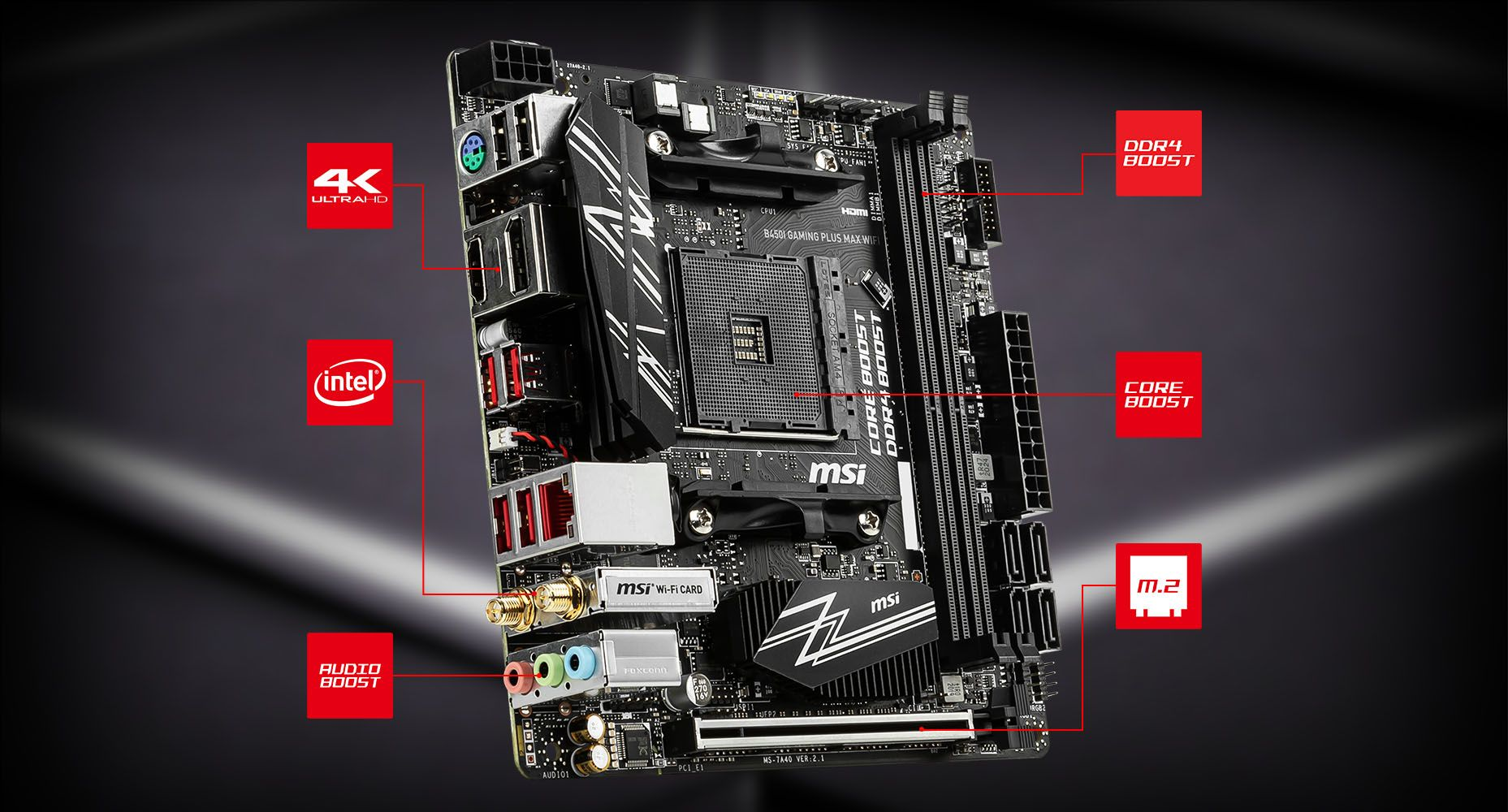 MSI B450I GAMING PLUS MAX WIFI LIGHTNING overview