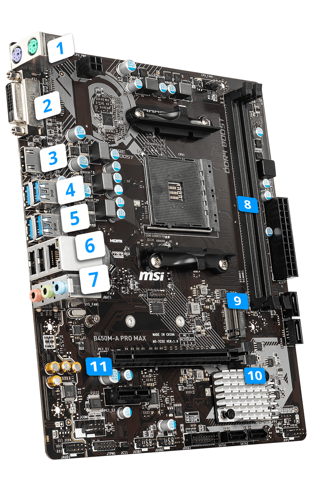 MSI B450M-A PRO MAX overview
