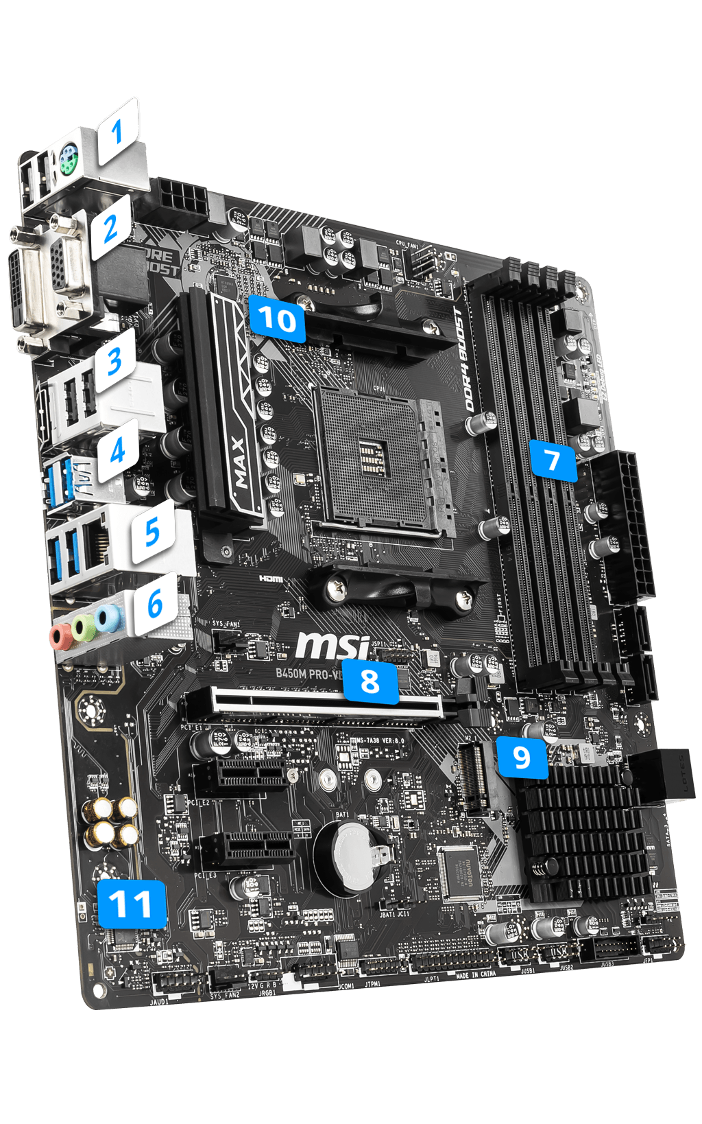 MSI B450M PRO-VDH MAX MAX overview