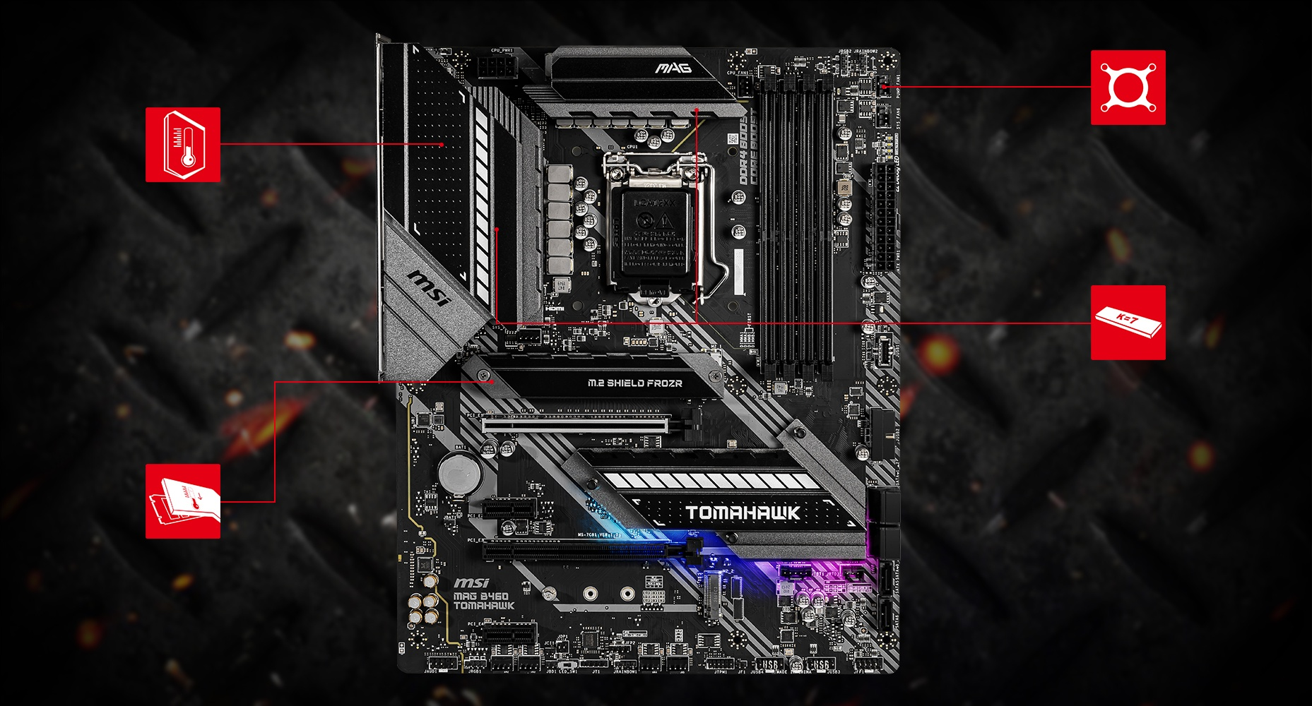 MSI MAG B460 TOMAHAWK THERMAL overview