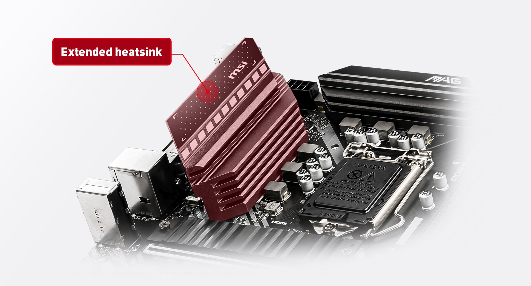 MSI MAG B460M BAZOOKA THERMAL SOLUTION FOR MORE CORES AND HIGHER PERFORMANCE