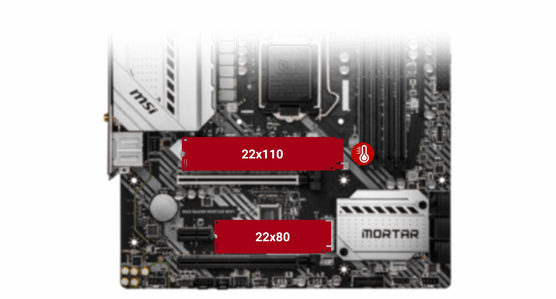 MSI MAG B460M MORTAR WIFI TWIN TURBO M.2 and M.2 SHIELD FROZR