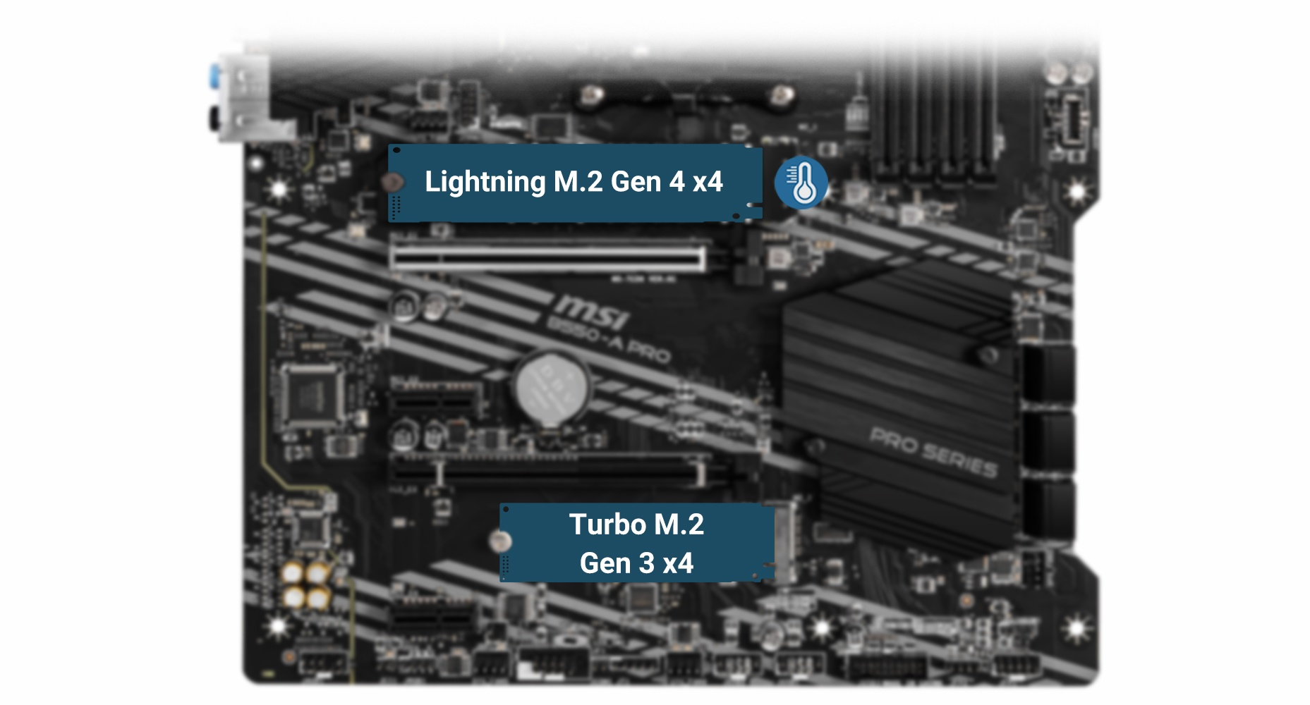 MSI B550-A PRO LIGHTNING GEN4 M.2 WITH M.2 SHIELD FROZR