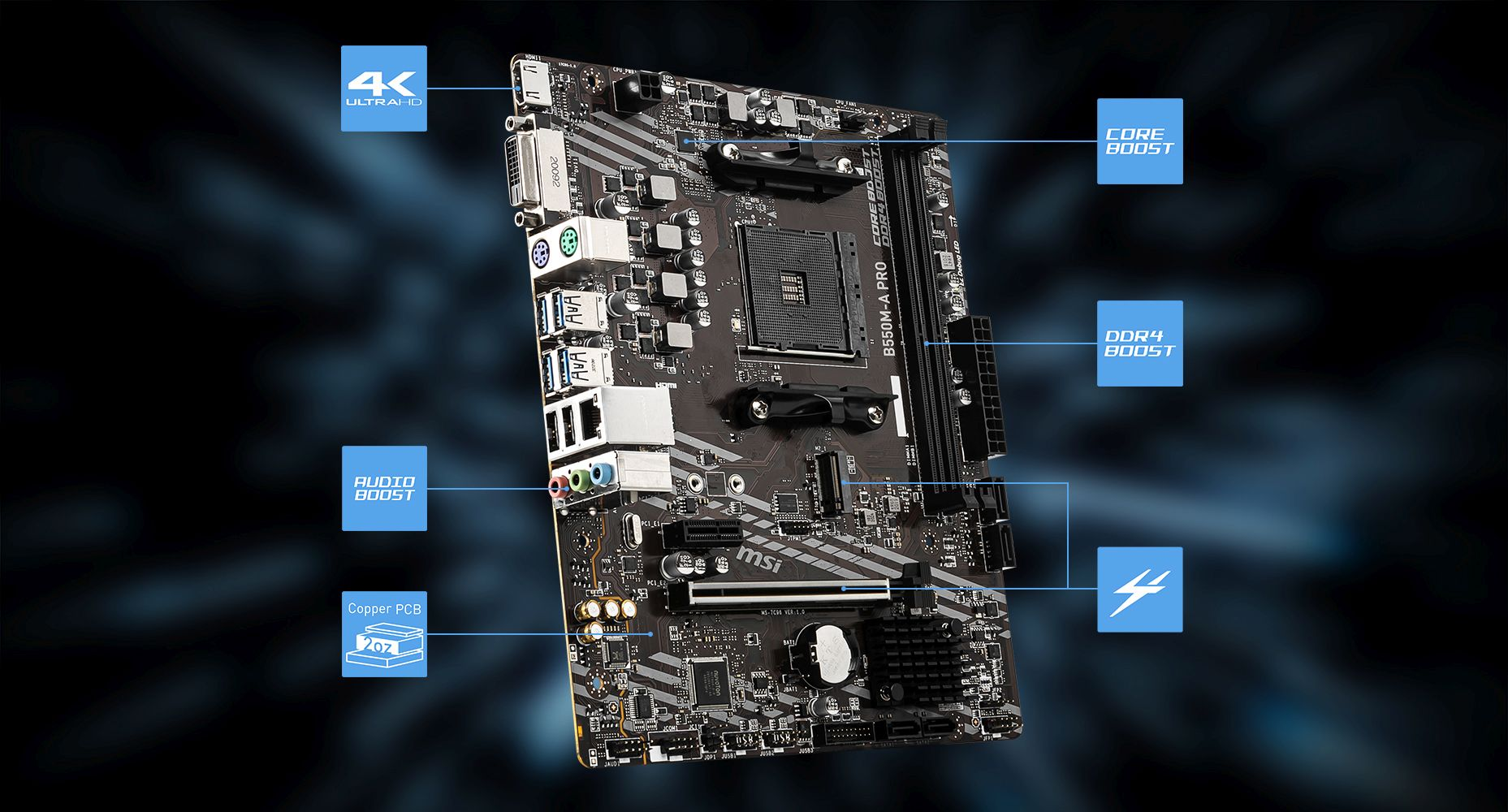MSI B550M-A PRO overview