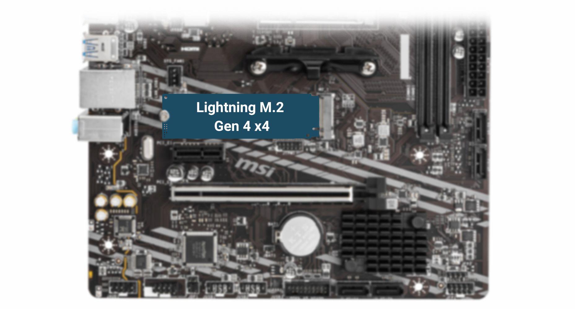 MSI B550M-A PRO LIGHTNING GEN4 M.2