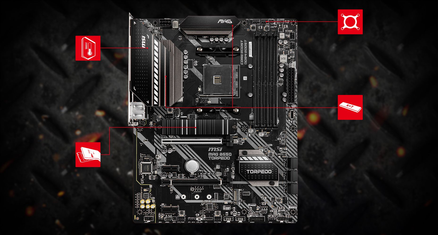 MSI MAG B550 TORPEDO THERMAL overview