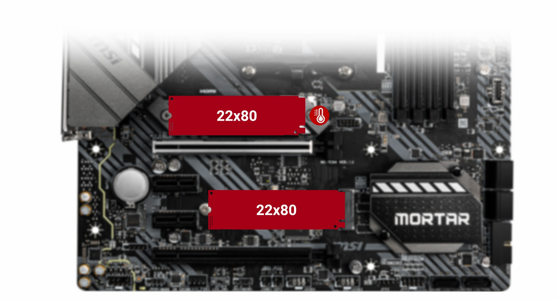 MSI MAG B550M MORTAR TWIN TURBO M.2 and M.2 SHIELD FROZR