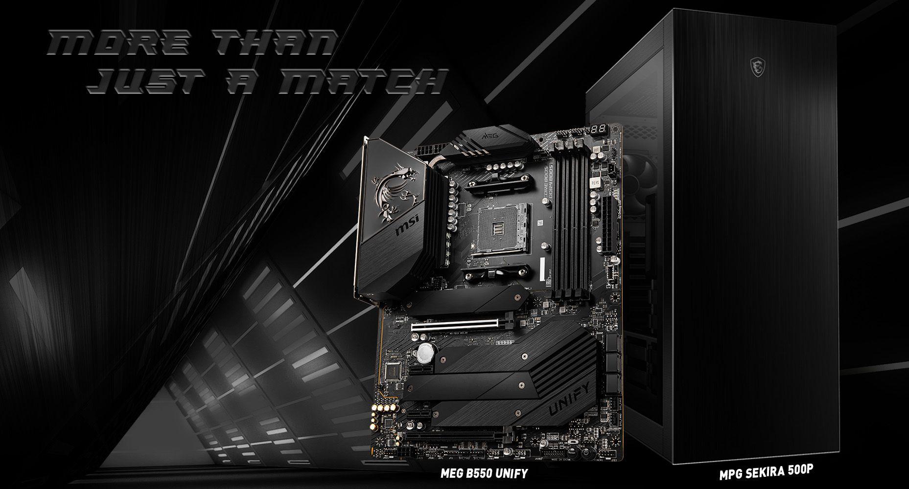 MSI MEG B550 UNIFY & MPG SEKIRA 500P