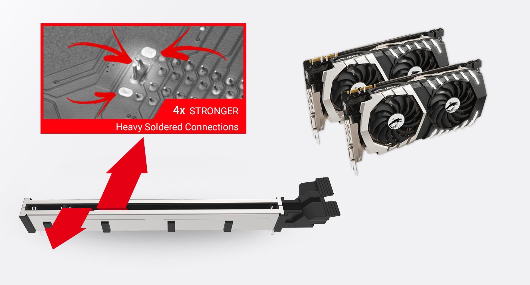 MSI MEG B550 UNIFY MULTIPLE GPU SUPPORTS AND STEEL ARMOR