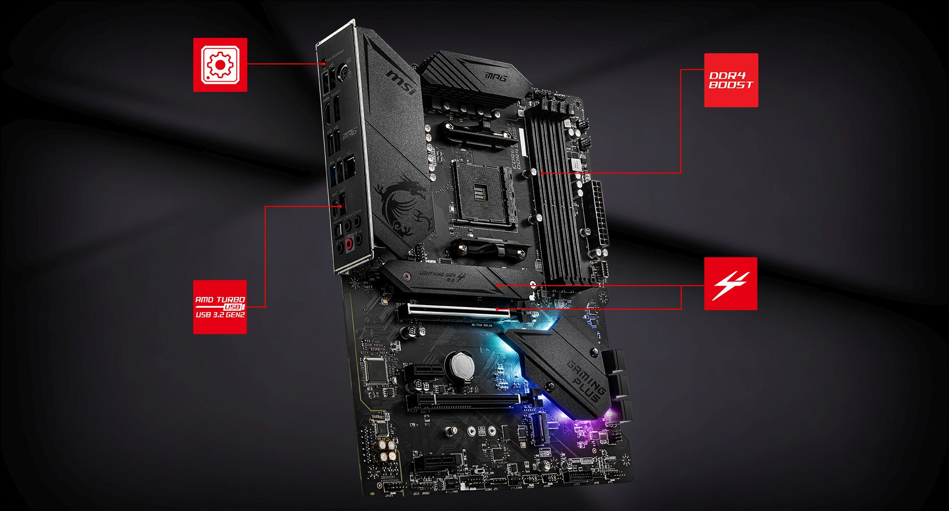 MSI MPG B550 GAMING PLUS LIGHTNING overview