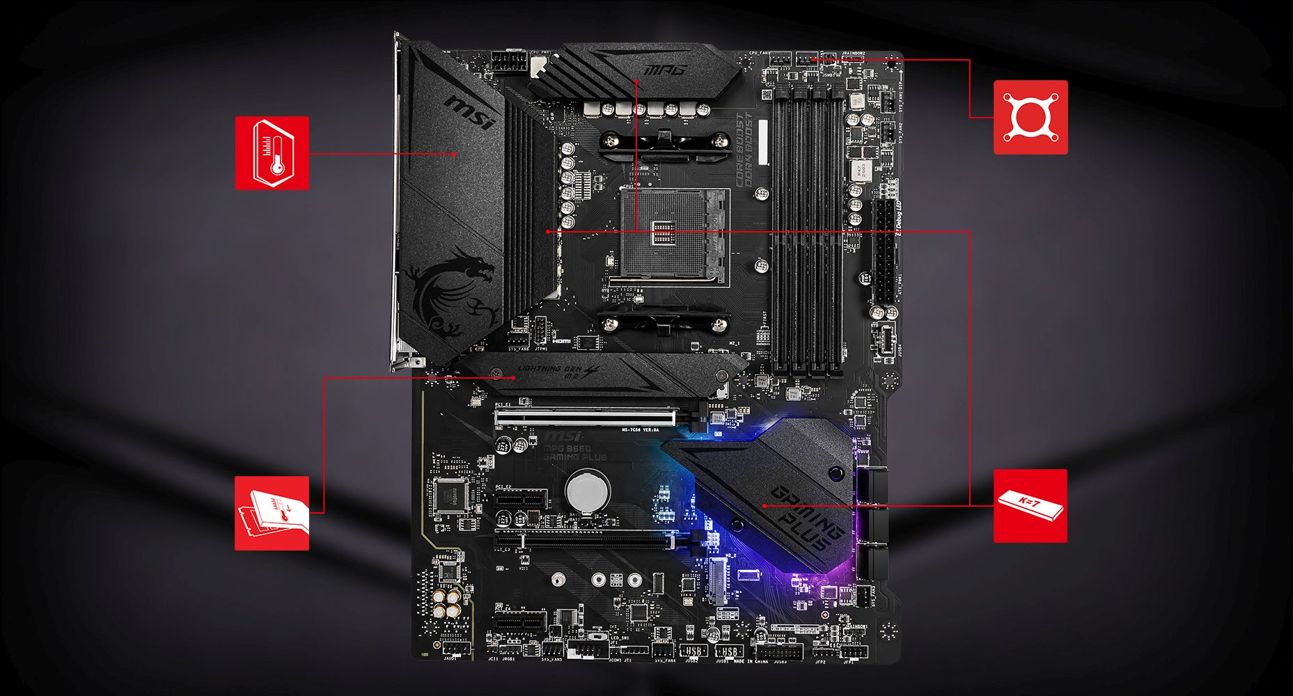 MSI MPG B550 GAMING PLUS THERMAL overview