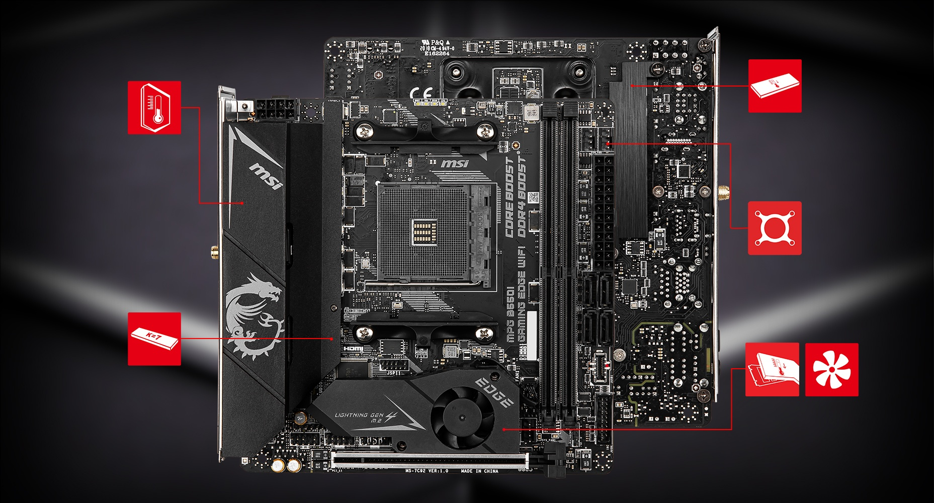 MSI MPG B550I GAMING EDGE WIFI THERMAL overview
