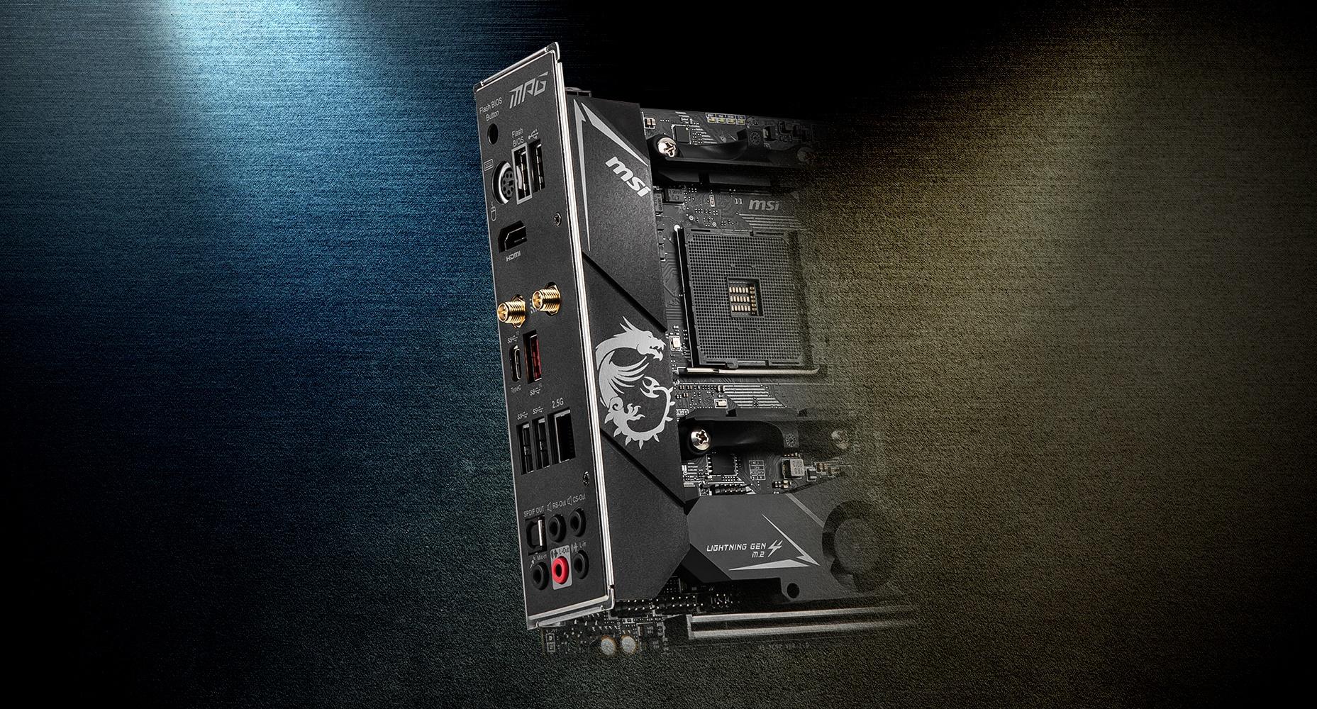 MSI MPG B550I GAMING EDGE WIFI PRE-INSTALLED IO SHIELDING