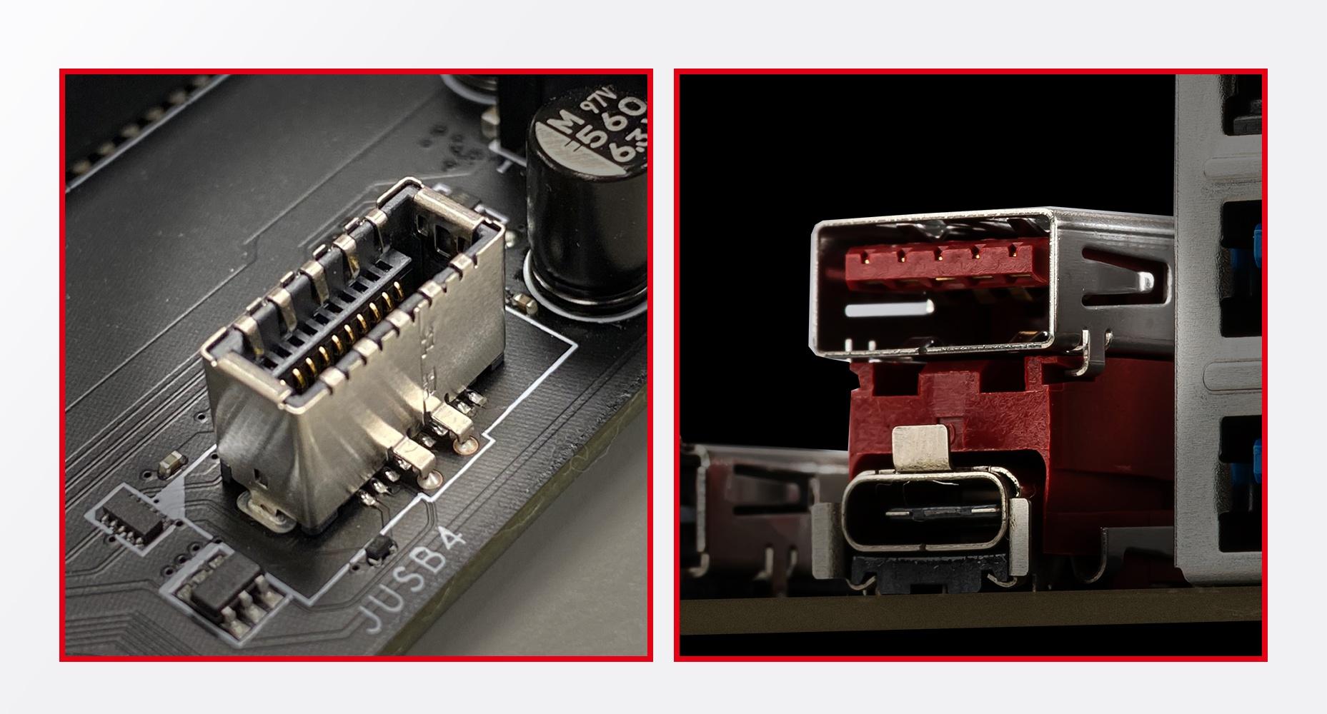 MSI MPG B550I GAMING EDGE WIFI USB Type-C ready in both Front case panel & Rear IO