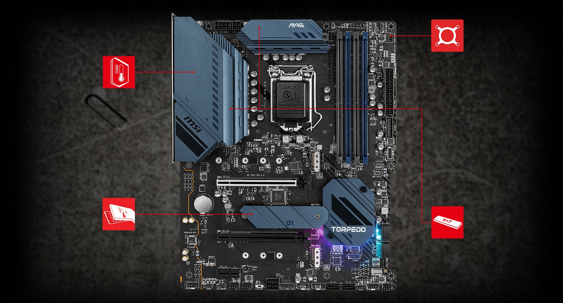 MSI MAG B560 TORPEDO THERMAL overview