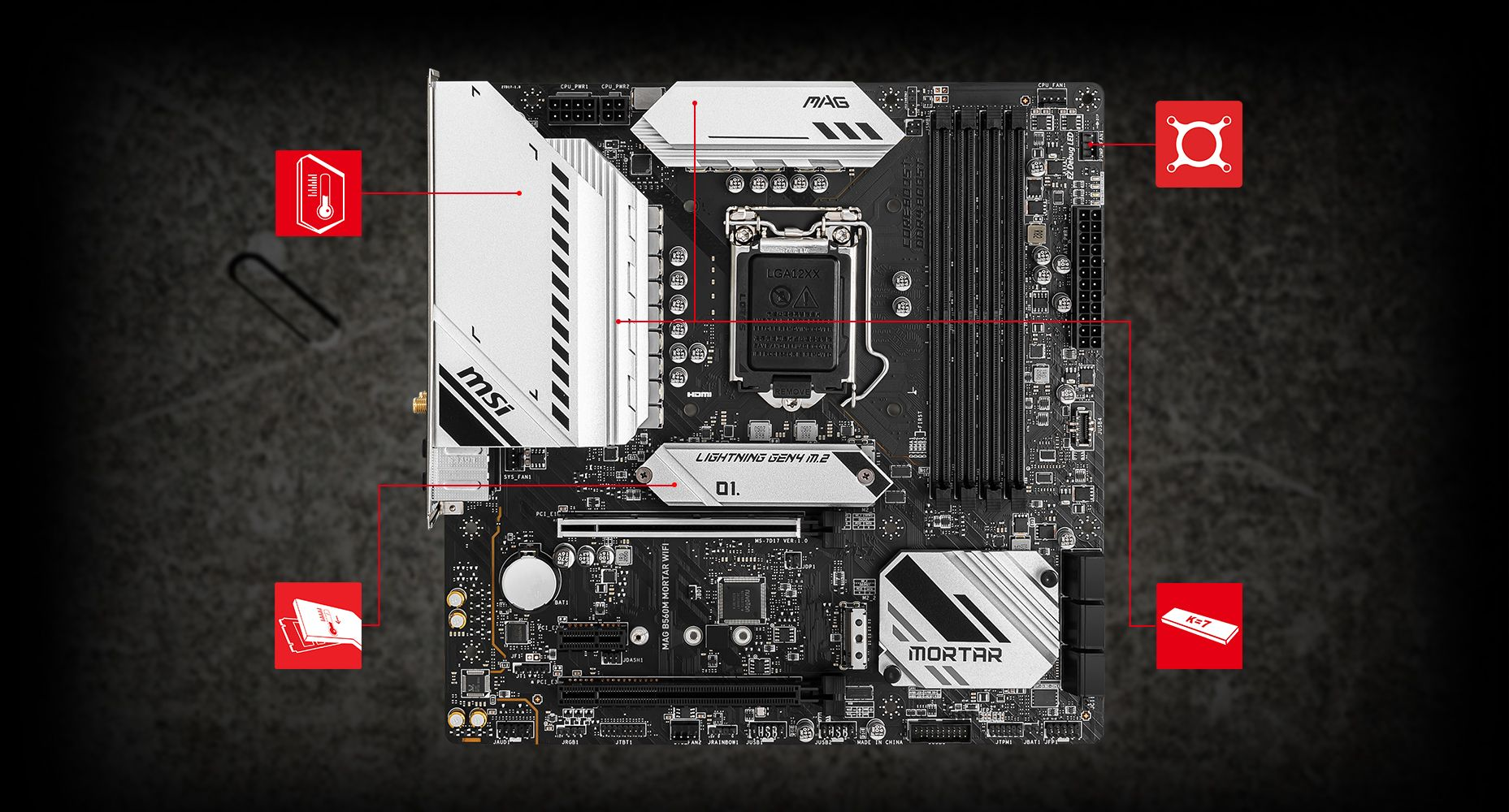 MSI MAG B560M MORTAR WIFI THERMAL overview