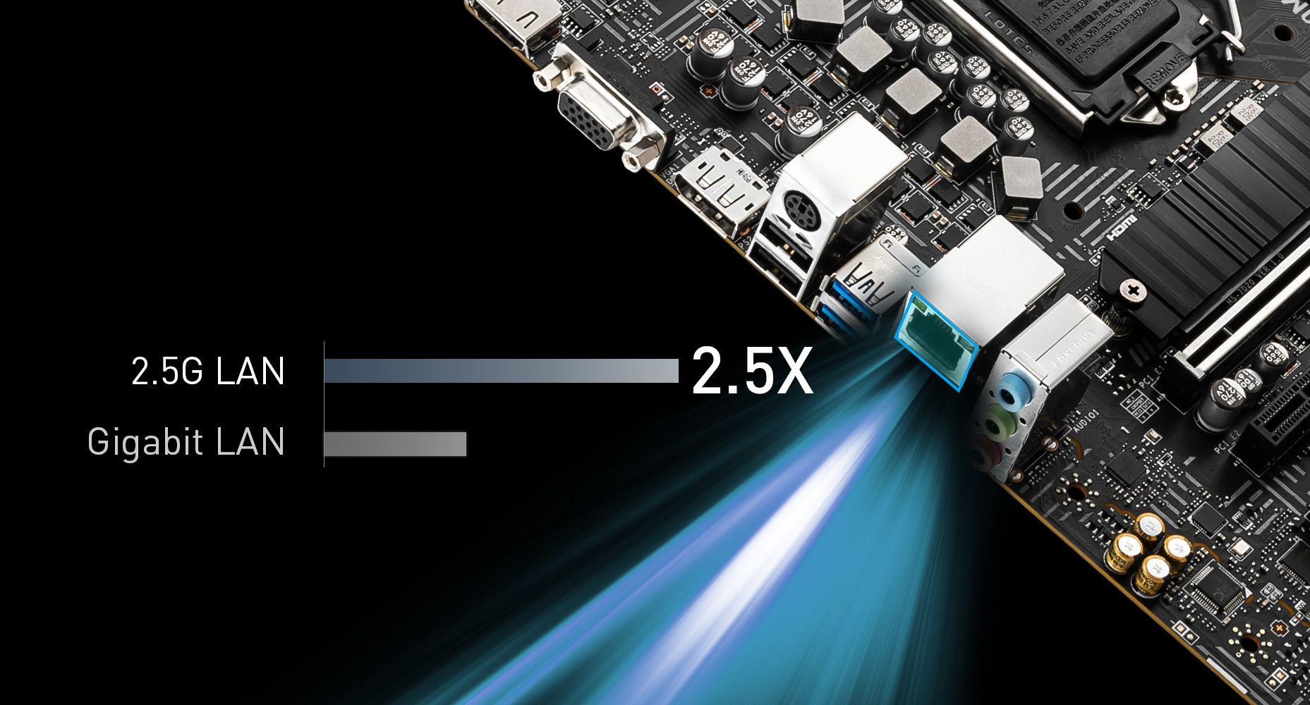 MSI B560M PRO MAXIMIUM DATA TRANSFER WITH 2.5G LAN