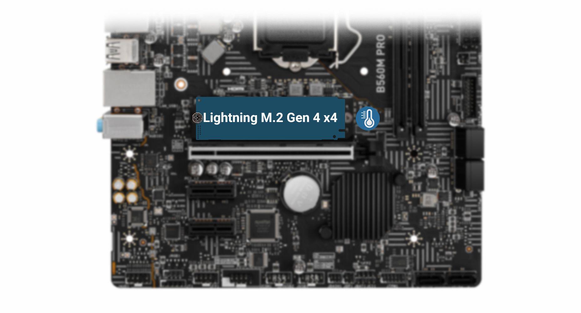 MSI B560M PRO LIGHTNING GEN 4 M.2 WITH M.2 SHIELD FROZR