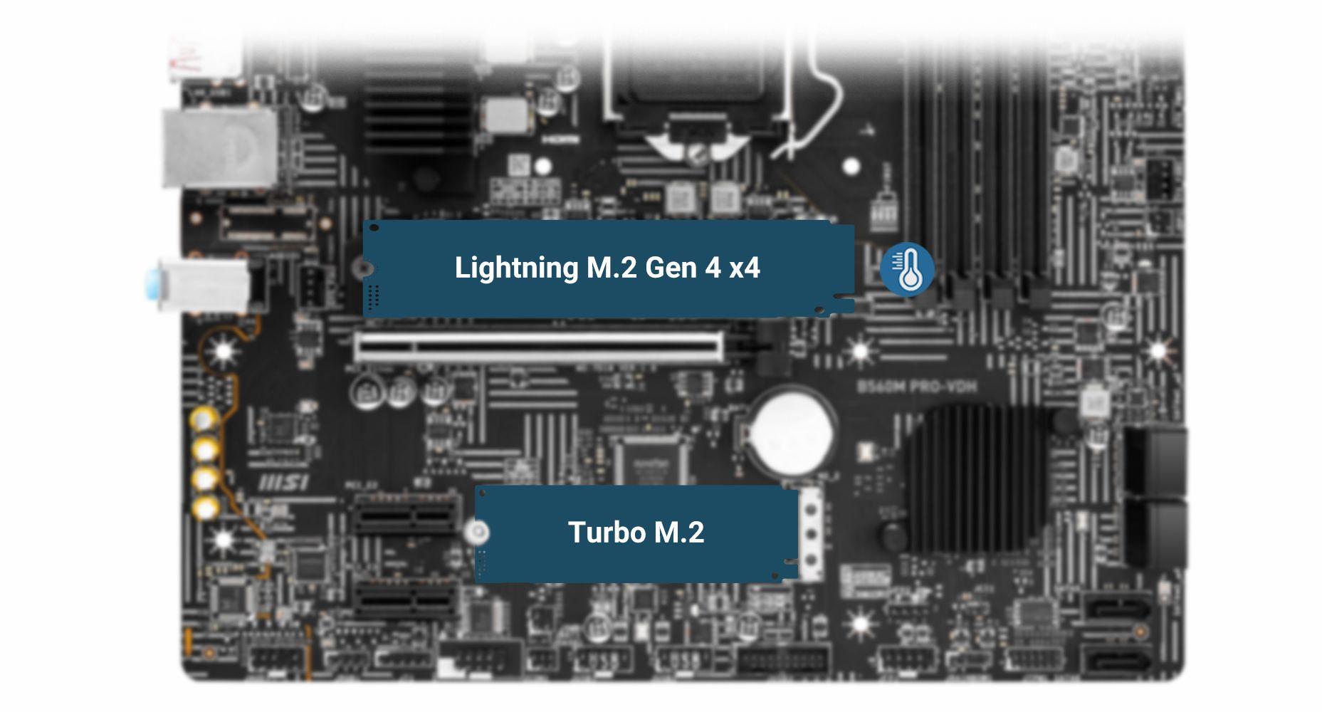 MSI B560M PRO-VDH LIGHTNING GEN 4 M.2 WITH M.2 SHIELD FROZR