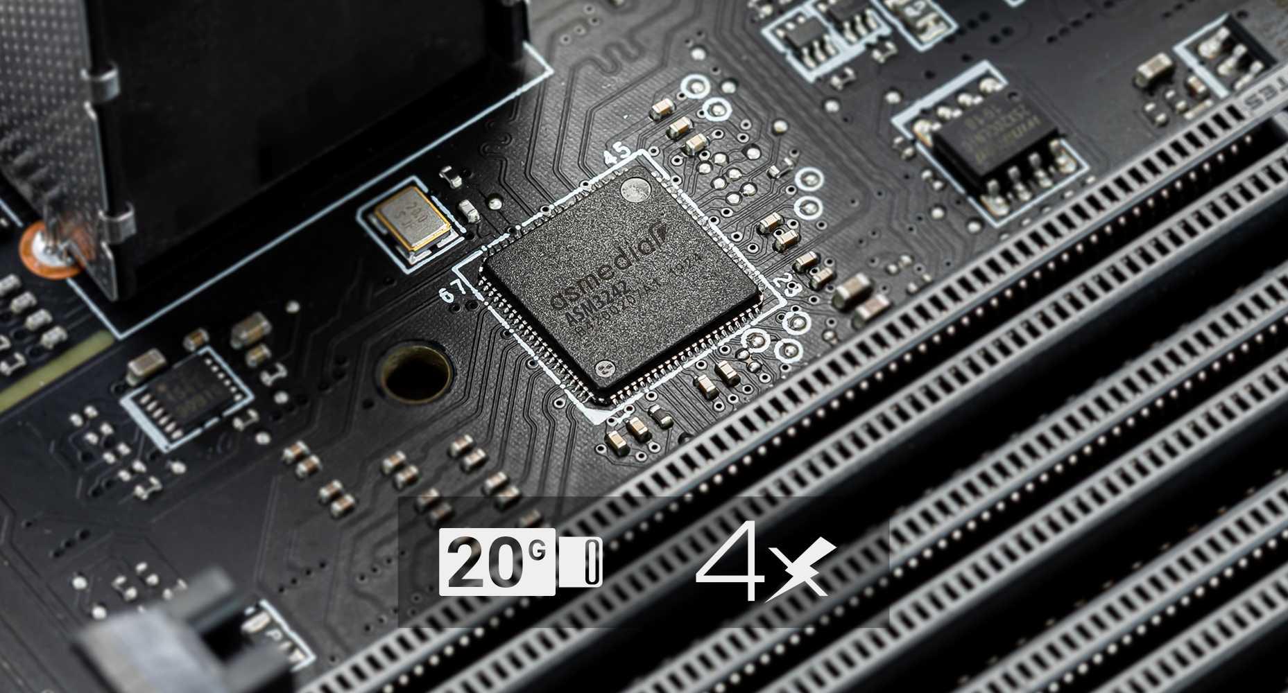 MSI X299 PRO 4X Faster Lightning USB 20G
