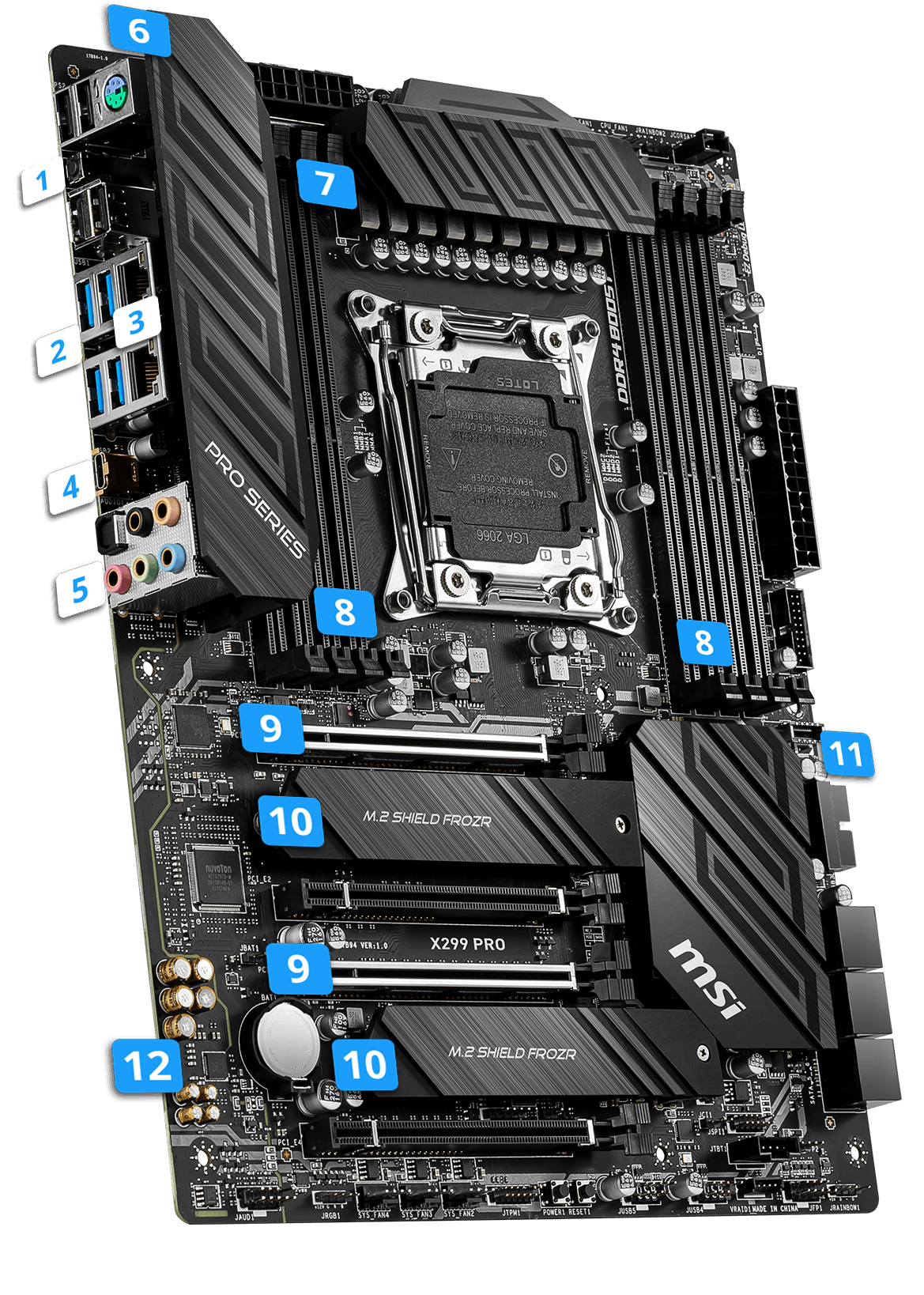 MSI X299 PRO overview