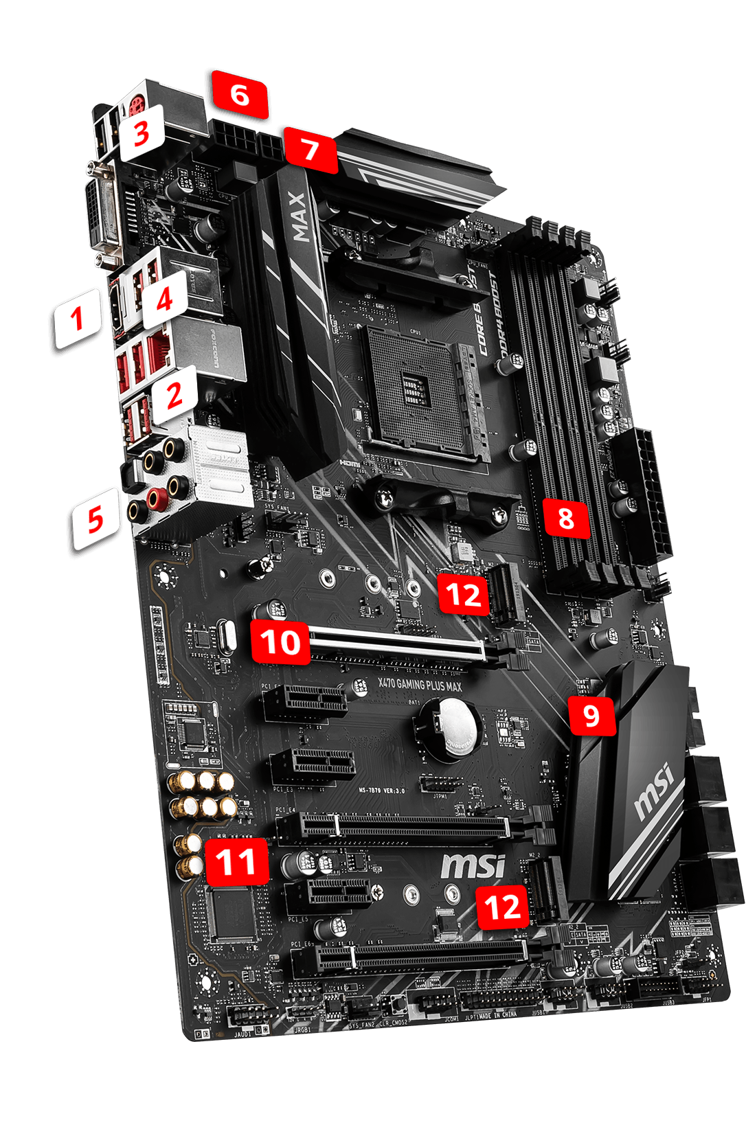 MSI X470 GAMING PLUS MAX overview