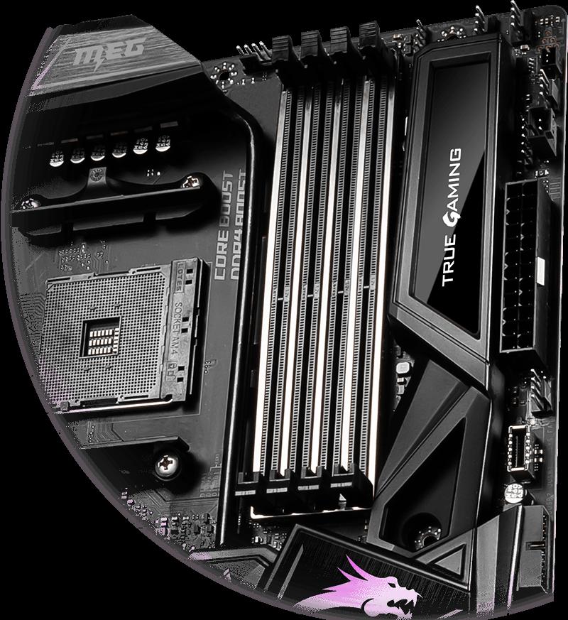 MSI MEG X570 GODLIKE Dynamic dashboard