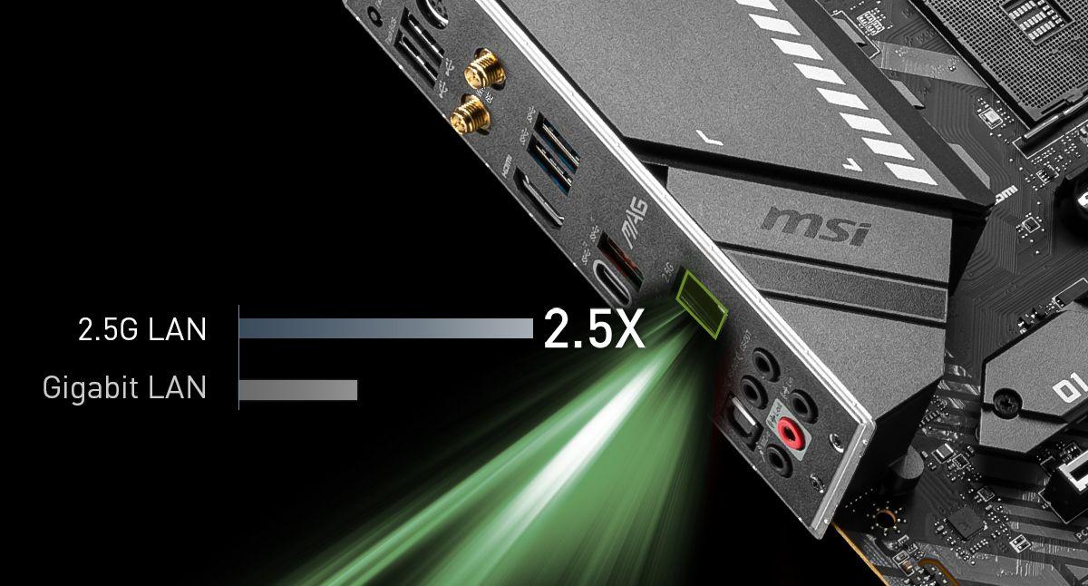 MSI MAG X570S TOMAHAWK MAX WIFI MAXIMIUM DATA TRANSFER WITH 2.5G LAN
